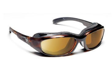 7eye 160642 Churada Single Vision Sunglasses Airshield Dark Tortoise Frames