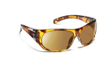 7eye 870644 Clay Single Vision Sunglasses Active Lifestyle Dark Tortoise Frames