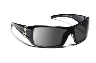 b37befc65e5 7eye 850644 Mason Single Vision Sunglasses Active Lifestyle Glossy Black  Frames