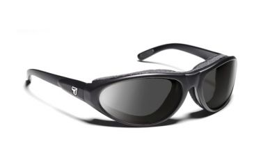 7eye 200141 Mens Cyclone Rx Progressive Sunglasses Airshield Matte Black Frames