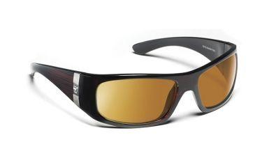 7eye 785244 Mens Shaka Single Vision Sunglasses Active Lifestyle Mahogany Frames