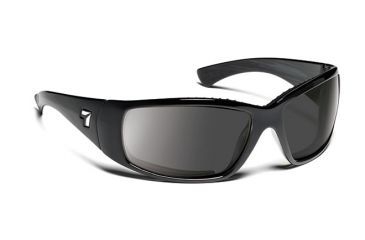 7eye 570141 Mens Taku Single Vision Sunglasses Airdam Matte Black Frames