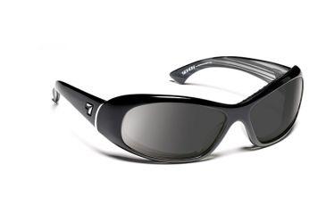 7eye 560541 Womens Zephyr Single Vision Sunglasses Airdam Glossy Black Frames