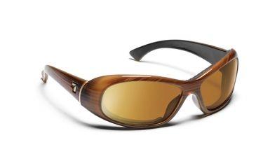 7eye 564142 Womens Zephyr Single Vision Sunglasses Airdam Sandalwood Frames