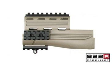 Advanced Technology AK-47 Handguards w/ Picatinny Rails, Desert Tan A5202436