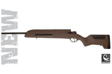 Advanced Technology Mauser 98 Stock Dark Earth Brown w/ Built-In Scope Mount & Scorpion Recoil Pad A2301310