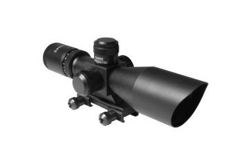 AIM Sports Inc 2.5-10X40 Dual Illuminated Riflescope w/ Cut Sunshade, Black, Medium, Cut Sunshade/Mil-Dot JTSDM251040G-N