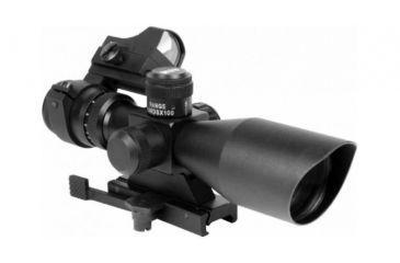 AIM Sports Inc CQB Combo 3-9x40 Scope and Red Dot, Red Dot-Picatinny Mount-Mil-Dot JSRPC01-M