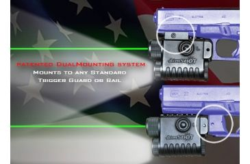 Aimshot LS8268 Green Laser Sight and Flashlight Dualmounting System