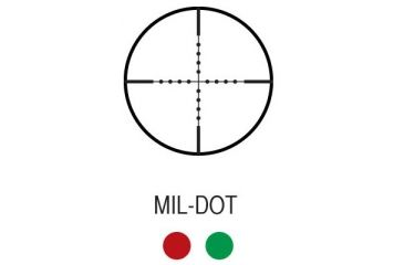 AimSports 2.5-10X40 Dual Ill. Scope /QRM/Mil-Dot, Black JTSDM251040G