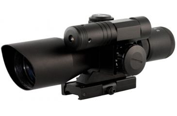 AimSports 2.5-10X40 Dual Ill. Scope /Non-Etched Glass/Mil-Dot, Black JDNG25104G