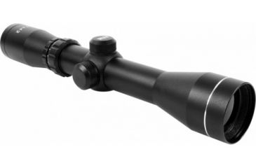 AimSports 2-7X42 Dual Ill. 30mm Scout Scope/Rangefinder, Black JH2742G-R