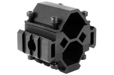 AimSports Shotgun 12G Tri-Rail Barrel Mount, Black MT025