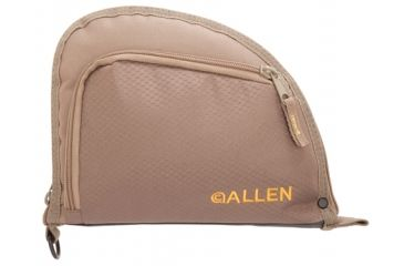 Allen Auto-Fit 1-Pocket Handgun Case Ripstop Material Measures 9.5x7.25 Inches Taupe