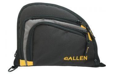 Allen Auto-Fit 2-Pocket Handgun Case Measures 9.5x7.25 Inches Black/Gray/Yellow