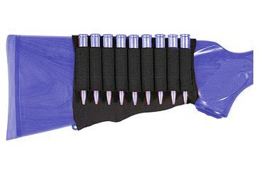 Allen Buttstock Neoprene/Nylon Cartridge Holder, Universally Adaptable, 9 Rounds, Black 206