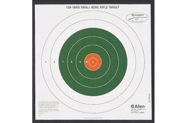 Allen Remington Shooting Targets, Remington Bullseye Style 100yd Sight-In Targets, P 43958