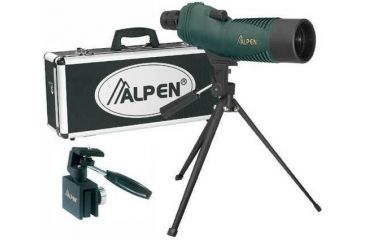 Alpen 15-30x50 Waterproof Spotting Scope, Tripod Car Window Mount, Travel Case 730KIT