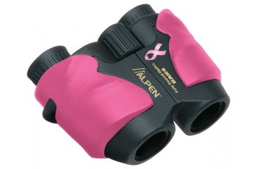 Alpen Breast Cancer Foundation 8x25mm Wide Angle Prism Binoculars, Pink - 263PINK