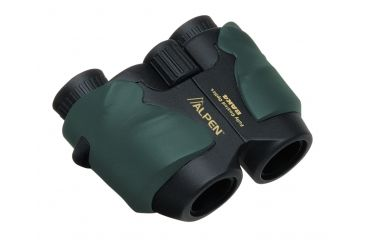 Alpen Pro Compact 10x25 Porro Prism Rubber Armored Binoculars, Green w/Strap 268