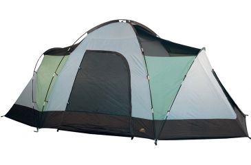 Alps Mountaineering Meramac Room - Sage/Rust Tent, 3 Room, 7+ Person 60310