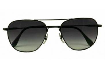 American Optical Original Pilot LE Sunglasses w/ Black Frame and Polycarbonate Gradient Grey Lens BGRGRY-WS145-20-57-47
