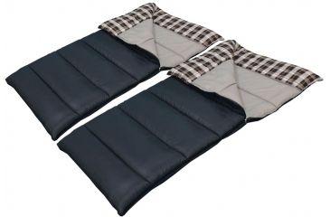 American Trails Ozzie & Harriet Double Sleeping Bag, Black, 80x66 KMK2701B