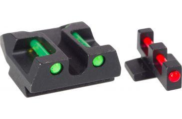 AmeriGlo Fiber Optic Rear Sight FNX9,40 FN45 Rear Sight, red Fiber Optic, .300in. Height FN-300-RFR