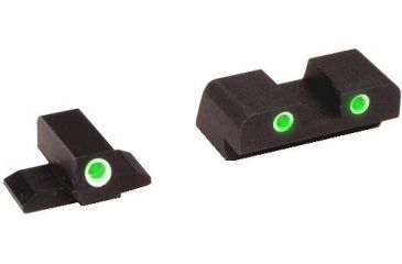 Ameriglo Green Tritium Front/Rear Night Sights For FNP 9 FN601