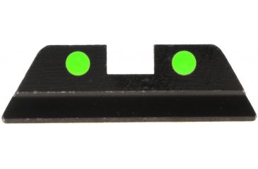 Ameriglo Painted Dot Night Sights - REAR Sight Only - Green LumiDot, .256 Height, Fits Glocks 17,19,22,23,24,26,27,33,34,35,37,38,39 GG-413R