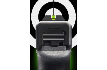AmeriGlo Painted Rear Sight .272in. Height, Green Lumi line, .155in. notch GL-614G