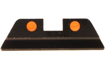 AmeriGlo Painted Rear Sight Fits Glock 17,19,22,23,24,26,27,33,34,35,37,38,39, .256in. Height, Orange Dots GG-414R