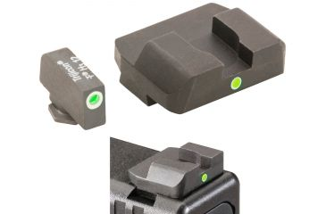AmeriGlo Tritium Rear Night Sight All Glock Models, i-Dot Rear Sight, .315in. Height, .180in. notch, single yellow tritium Dot Rear, Taller Front req'd GL-103R