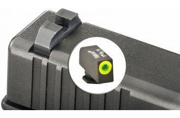 AmeriGlo Tritium Front Tritium Rear Glock 17,19,22,23,24,26,27,33,34,35,37,38,39 ProGlo Circle, LumiLime Front with Black Claw Rear GL-444