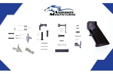 1-Anderson Manufacturing Lower Parts Kit - Stainless Steel Hammer and Trigger - Retail Packaged