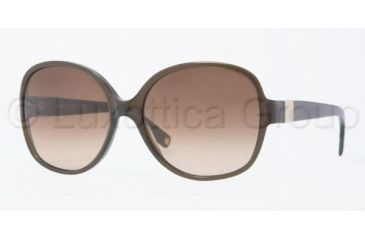 Anne Klein AK 3170 AK3170 Single Vision Prescription Sunglasses AK3170-314-78-5615 - Lens Diameter: 56 mm, Frame Color: Olive Sheer