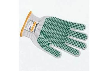 Ansell Healthcare SafeKnit Cut-Resistant Gloves, Ansell 240072 Style 72-015 Medium-Duty, Two-Strand, Ultima With Blue Pvc Gripping Dots