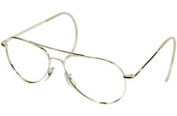 AO Flight Gear General Series Sunglasses Frame, No Lens, Gold, Comfort Cable, 52mm Lens G-CC-52