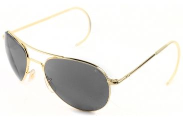 AO II 8-Base Sunglasses, Gold, Comfort Cable, Grey Poly Lenses, 52mm, Polarized G-CCGPP-CC-52