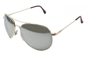 AO II 8-Base Sunglasses, Gold, Comfort Cable, Silver Mirror Lens, 52mm, Small G-SMP-CC-52