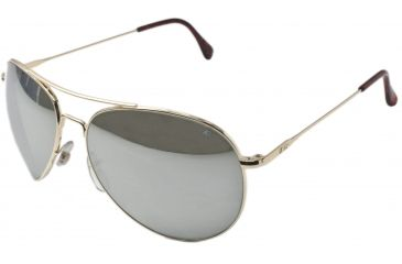 AO II 8-Base Sunglasses, Gold, Comfort Cable, Silver Mirror Lens, 58mm, Large G-SMP-CC-58