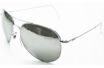 AO II 8-Base Sunglasses, Silver, Wire Spatula, Silver Full Mirror Lenses - 58mm S-SFM-WS-58