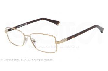 Armani EA1004 Single Vision Prescription Eyeglasses 3013-52 - Pale Gold Frame