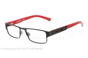 Armani EA1005 Single Vision Prescription Eyeglasses 3001-52 - Matte Black Frame