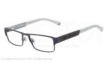 Armani EA1005 Single Vision Prescription Eyeglasses 3018-52 - Matte Blue Frame