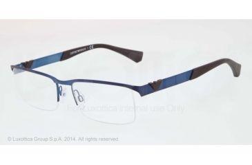 Armani EA1014 Bifocal Prescription Eyeglasses 3050-53 - Matte Blue Frame