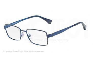 Armani EA1021 Progressive Prescription Eyeglasses 3018-53 - Matte Blue Frame