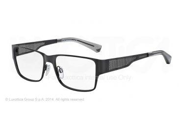 Armani EA1022 Eyeglass Frames 3001-53 - Matte Black Frame