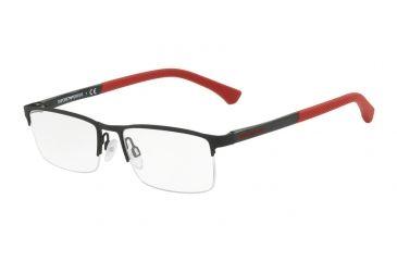 f2b60d18049 Armani EA1041 Progressive Prescription Eyeglasses 3109-53 - Black Rubber  Frame