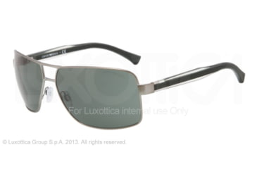 Armani EA2001 EA2001 Single Vision Prescription Sunglasses EA2001-300371-64 - Lens Diameter 64 mm, Frame Color Matte Gunmetal